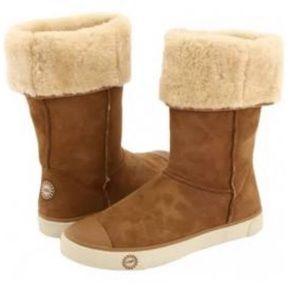 UGG 1886 Chestnut Color Delaine Sneaker Boot